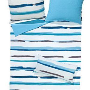 Traumhafte Bettwäsche aus Seersucker - blau 135x200 von Erwin Müller