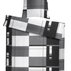 Traumhafte Bettwäsche aus Seersucker - schwarz 155x220 von Carpe Sonno