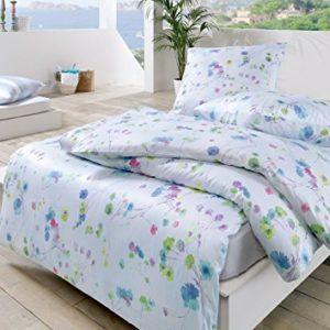 Traumhafte Bettwäsche aus Batist - blau 135x200 von Estella