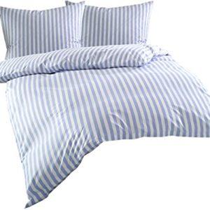 Kuschelige Bettwäsche aus Batist - blau 240x220 von Bettwaesche-mit-Stil