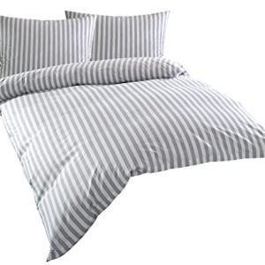 Schöne Bettwäsche aus Batist - grau 200x220 von Bettwaesche-mit-Stil