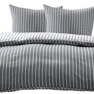 Hübsche Bettwäsche aus Damast - schwarz 200x220 von Bettwaesche-mit-Stil