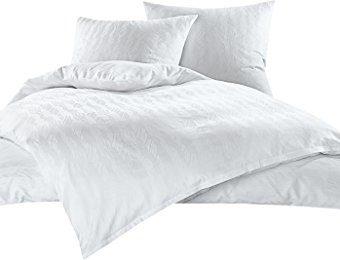 Traumhafte Bettwäsche aus Damast - weiß 155x220 von Bettwaesche-mit-Stil