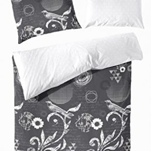 Kuschelige Bettwäsche aus Flanell - weiß 135x200 von Hahn Haustextilien