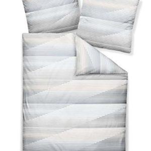 Hübsche Bettwäsche aus Jersey - blau 155x220 von Janine
