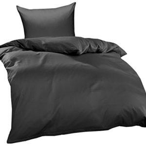 Kuschelige Bettwäsche aus Jersey - braun 155x220 von Bettwaesche-mit-Stil