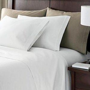 Kuschelige Bettwäsche aus Perkal - weiß 200x200 von Linens Limited