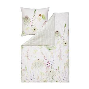 Schöne Bettwäsche aus Satin - grün 200x200 von Estella