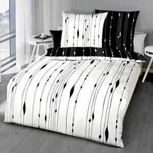 Traumhafte Bettwäsche aus Satin - schwarz 200x200 von Kaeppel