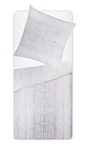 Traumhafte Bettwäsche aus Satin - weiß 135x200 von Essenza