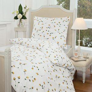 Kuschelige Bettwäsche aus Seersucker - gelb 155x220 von Janine Design