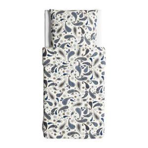Hübsche Bettwäsche aus Baumwolle - blau 155x220 von Ikea