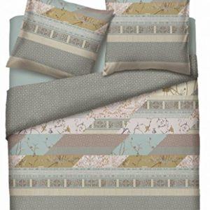 Schöne Bettwäsche aus Baumwolle - grau 135x200 von Bassetti