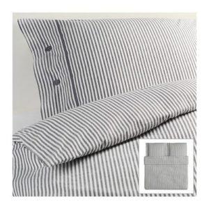Hübsche Bettwäsche aus Baumwolle - grau 220x240 von Ikea