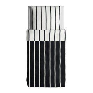 Kuschelige Bettwäsche aus Baumwolle - schwarz 140x200 von Ikea