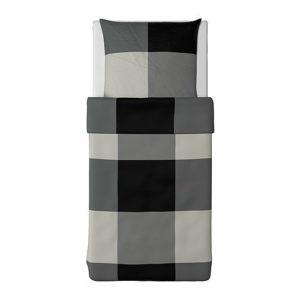Schöne Bettwäsche aus Baumwolle - schwarz von Ikea