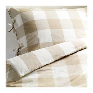 Schöne Bettwäsche aus Baumwolle - weiß 220x240 von Ikea