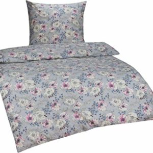 Traumhafte Bettwäsche aus Flanell - blau 135x200 von Bettwaesche-mit-Stil