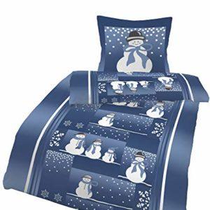Traumhafte Bettwäsche aus Flanell - blau 135x200 von Dobnig