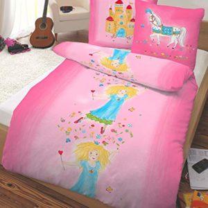 Schöne Bettwäsche aus Flanell - Prinzessin rosa 135x200 von Dobnig