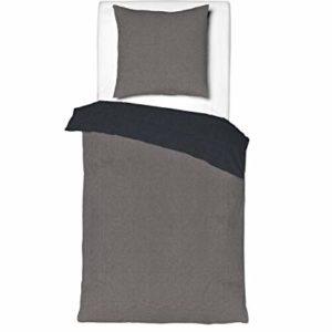 Schöne Bettwäsche aus Linon - schwarz 135x200 von Aminata Kids