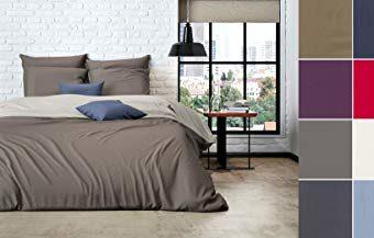 Traumhafte Bettwäsche aus Perkal - grau 135x200 von Mistral