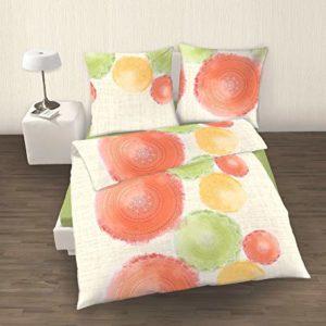 Hübsche Bettwäsche aus Perkal - grün 135x200 von IDO