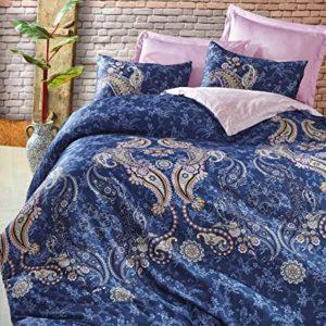 Hübsche Bettwäsche aus Renforcé - blau 135x200 von Optima