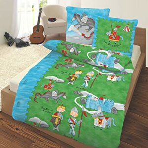 Schöne Bettwäsche aus Renforcé - grün 135x200 von IDO