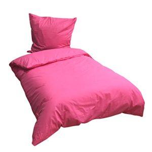 Hübsche Bettwäsche aus Renforcé - rosa 135x200 von Leonado Vicenti