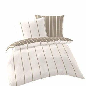 Kuschelige Bettwäsche aus Renforcé - weiß 155x220 von Primera