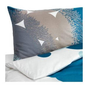 Kuschelige Bettwäsche aus Satin - blau 140x200 von Ikea