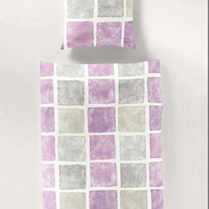 Schöne Bettwäsche aus Seersucker - Rosen grau 135x200 von Bierbaum