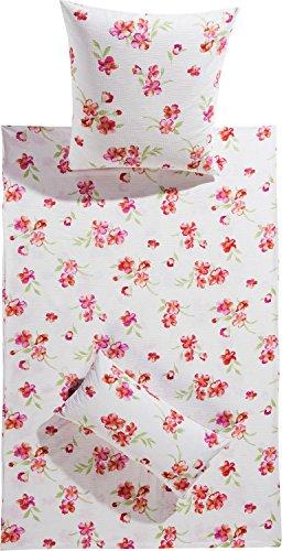 Kuschelige Bettwäsche aus Seersucker - weiß 135x200 von Erwin Müller