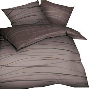 Schöne Bettwäsche aus Biber - braun 200x200 von Kaeppel