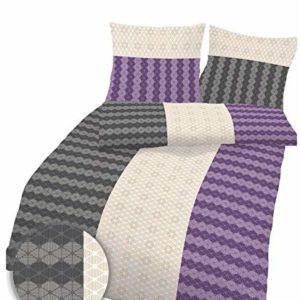 Traumhafte Bettwäsche aus Biber - grau 155x220 von Ido