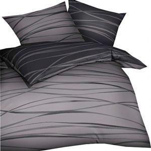 Schöne Bettwäsche aus Biber - grau 200x200 von Kaeppel