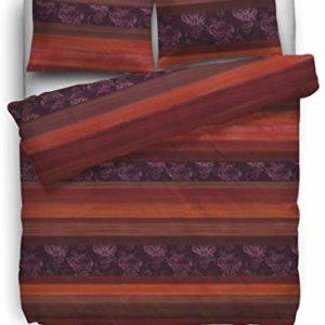 Schöne Bettwäsche aus Biber - rot 135x200 von HNL