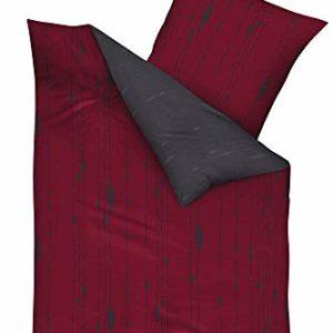 Hübsche Bettwäsche aus Biber - rot 135x200 von Kaeppel