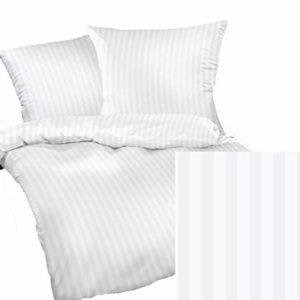 Schöne Bettwäsche aus Damast - weiß 200x200 von Bettwaren-XXL