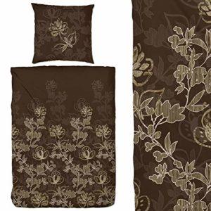 Schöne Bettwäsche aus Flanell - braun 200x200 von Hahn