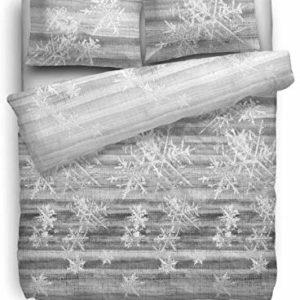 Kuschelige Bettwäsche aus Flanell - grau 155x220 von HNL