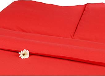 Schöne Bettwäsche aus Flanell - rot 155x220 von Carpe Sonno