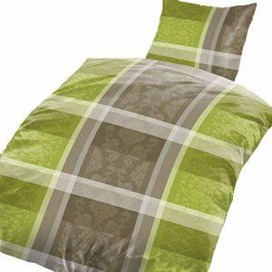 Kuschelige Bettwäsche aus Fleece - grün 135x200 von Bertels