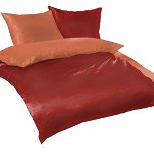 Schöne Bettwäsche aus Fleece - rot 135x200 von daspasstgut