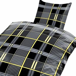 Traumhafte Bettwäsche aus Fleece - schwarz 135x200 von Bertels