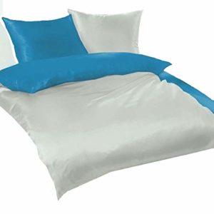 Traumhafte Bettwäsche aus Fleece - türkis 135x200 von daspasstgut