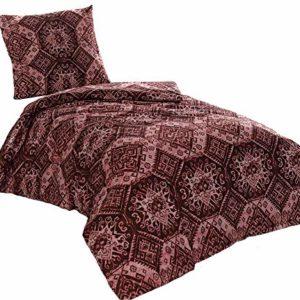 Schöne Bettwäsche aus Perkal - rot 155x200 von saleandmore