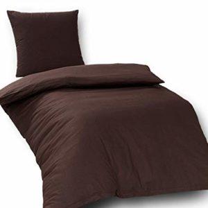 Hübsche Bettwäsche aus Renforcé - braun 135x200 von daspasstgut