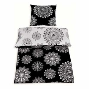 Traumhafte Bettwäsche aus Renforcé - schwarz weiß 135x200 von daspasstgut